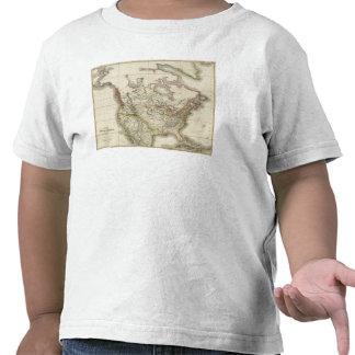 Mapa de Norteamérica 4 Camisetas