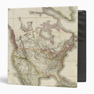 """Mapa de Norteamérica 4 Carpeta 1 1/2"""""""