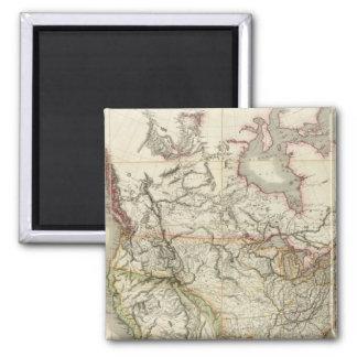 Mapa de Norteamérica 4 Imán De Frigorifico