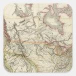 Mapa de Norteamérica 4 Pegatina Cuadrada