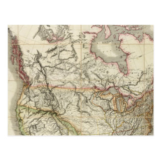 Mapa de Norteamérica 4 Postal
