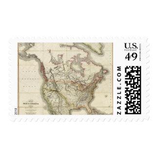 Mapa de Norteamérica 4 Sellos