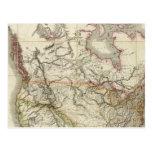 Mapa de Norteamérica 4 Tarjeta Postal