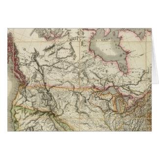 Mapa de Norteamérica 4 Tarjeton