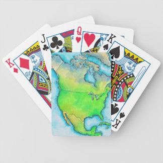 Mapa de Norteamérica Cartas De Juego