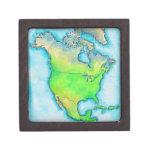 Mapa de Norteamérica Cajas De Joyas De Calidad