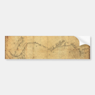 Mapa de Norteamérica Cape Cod a Havannah (1784) Pegatina Para Auto