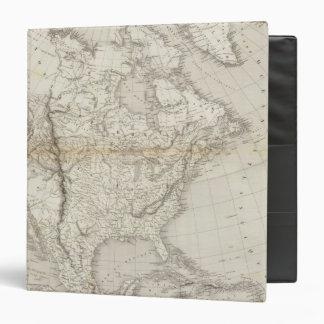 """Mapa de Norteamérica Carpeta 1 1/2"""""""