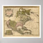 Mapa de Norteamérica de Alexis Huberto Jaillot 169 Posters