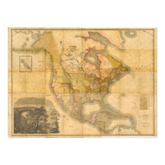 Mapa de Norteamérica de Henry Schenck Tanner 1822 Fotografías