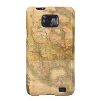 Mapa de Norteamérica de Henry Schenck Tanner 1822 Samsung Galaxy S2 Funda