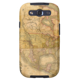 Mapa de Norteamérica de Henry Schenck Tanner 1822 Samsung Galaxy S3 Carcasas