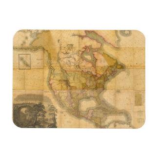 Mapa de Norteamérica de Henry Schenck Tanner 1822 Imán De Vinilo