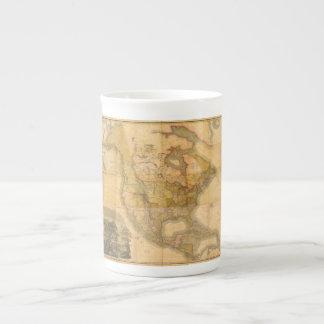 Mapa de Norteamérica de Henry Schenck Tanner 1822 Taza De Porcelana