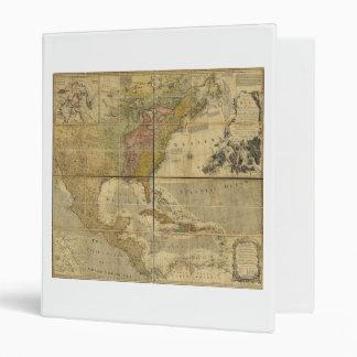 """Mapa de Norteamérica de Manuel Bowen (1755) Carpeta 1"""""""