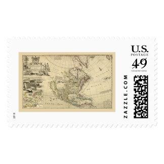 Mapa de Norteamérica del Moll 1715 de Herman Sello