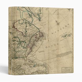 """Mapa de Norteamérica del Moll de Herman (1715) Carpeta 1"""""""