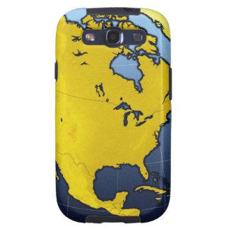 Mapa de Norteamérica Galaxy S3 Cárcasas