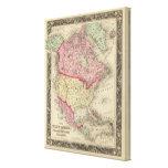 Mapa de Norteamérica Impresión En Lienzo