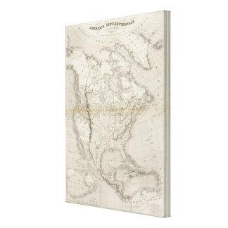 Mapa de Norteamérica Impresiones En Lona Estiradas
