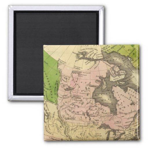 Mapa de Norteamérica Olney Imán Cuadrado
