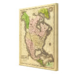 Mapa de Norteamérica Olney Impresión En Lienzo