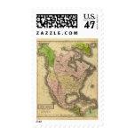 Mapa de Norteamérica Olney Sellos