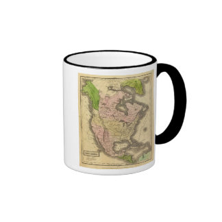 Mapa de Norteamérica Olney Tazas De Café