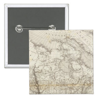 Mapa de Norteamérica Pin Cuadrada 5 Cm
