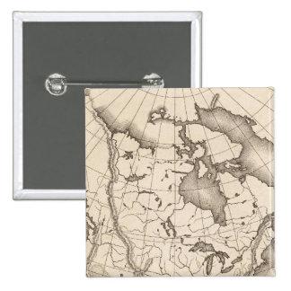 Mapa de Norteamérica Pins