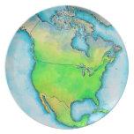 Mapa de Norteamérica Platos De Comidas