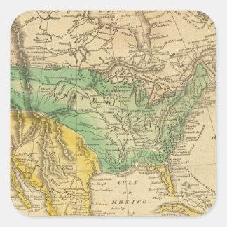 Mapa de Norteamérica por Worcester Pegatina Cuadrada