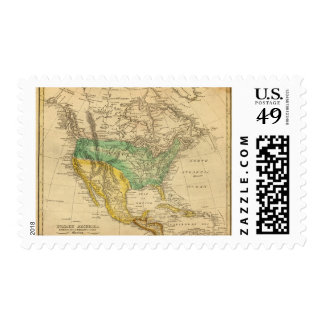 Mapa de Norteamérica por Worcester Sellos