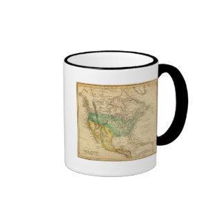 Mapa de Norteamérica por Worcester Taza
