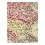 Mapa de Norteamérica Postal