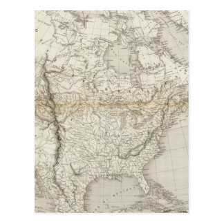 Mapa de Norteamérica Postales