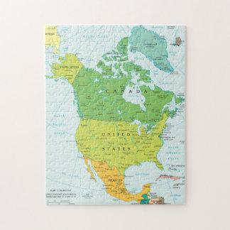 Mapa de Norteamérica Puzzle