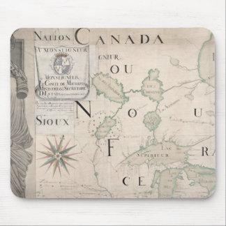 Mapa de Nouvelle-Francia 1699 Alfombrillas De Ratón