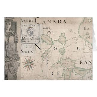 Mapa de Nouvelle-Francia 1699 Tarjeta De Felicitación