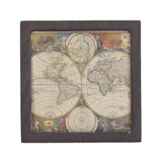 Mapa de Novissima Totius Terrarum Orbis Tabula Caja De Joyas De Calidad