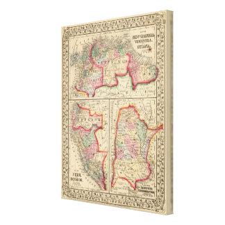 Mapa de nueva Granada, Venezuela, Guayana de Mitch Impresiones En Lienzo Estiradas