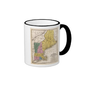 Mapa de Nueva Inglaterra o de los estados del este Tazas De Café