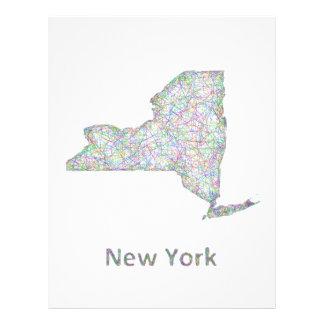 """Mapa de Nueva York Folleto 8.5"""" X 11"""""""