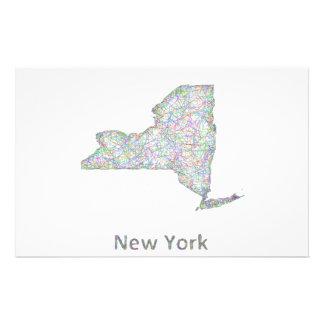 """Mapa de Nueva York Folleto 5.5"""" X 8.5"""""""