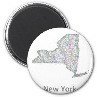 Mapa de Nueva York Imán Redondo 5 Cm