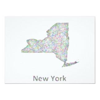 """Mapa de Nueva York Invitación 6.5"""" X 8.75"""""""
