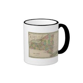 Mapa de Nueva York Tazas De Café