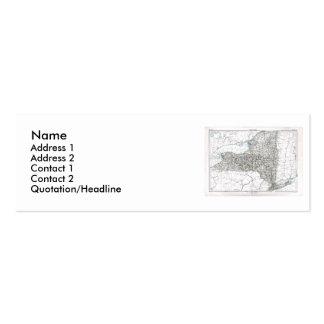 Mapa de Nueva York y bandera del estado Plantillas De Tarjetas Personales