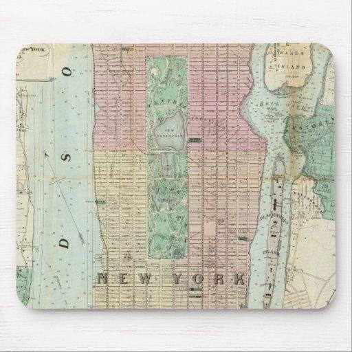 Mapa de Nueva York y de la vecindad Tapete De Raton