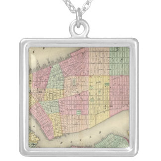 Mapa de Nueva York y de las ciudades adyacentes Collar Personalizado